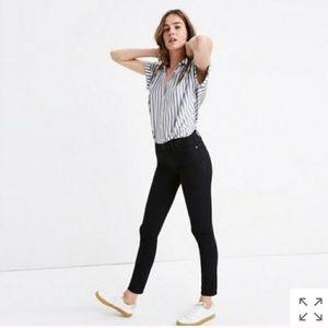 Madewell skinny skinny black jeans size 26
